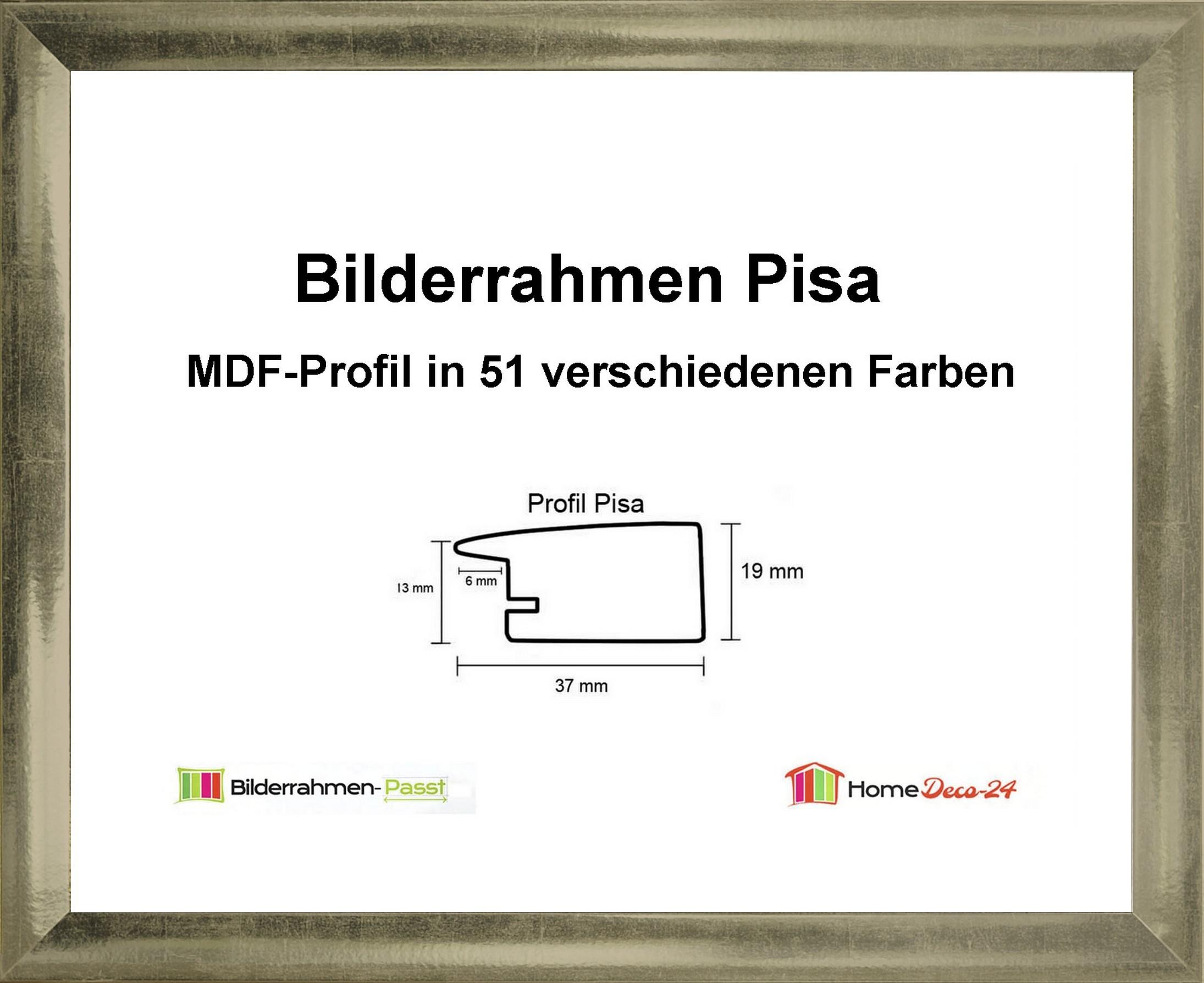 Pisa-MDF-Bilderrahmen-Metall-I-von-56-x-70-bis-56-x-79-cm