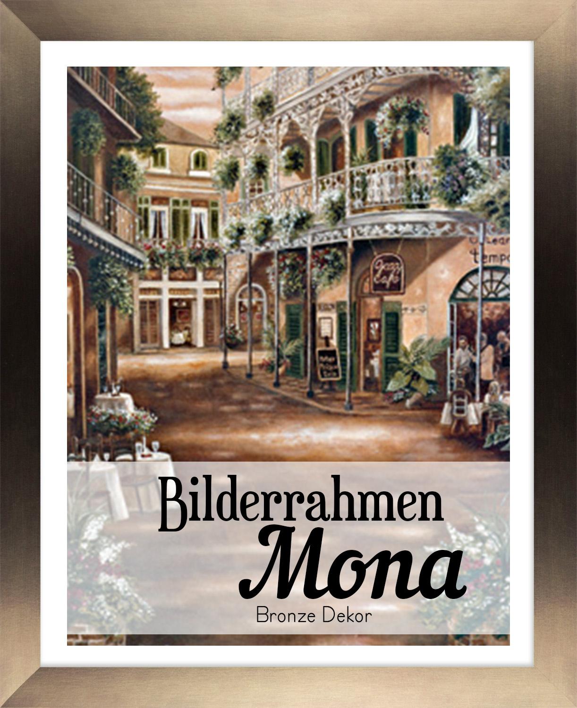 Mona 56,5 x 78 cm Bilderrahmen Homedeco 24 Holzwerkstoff Wahl Farbe Verglasung
