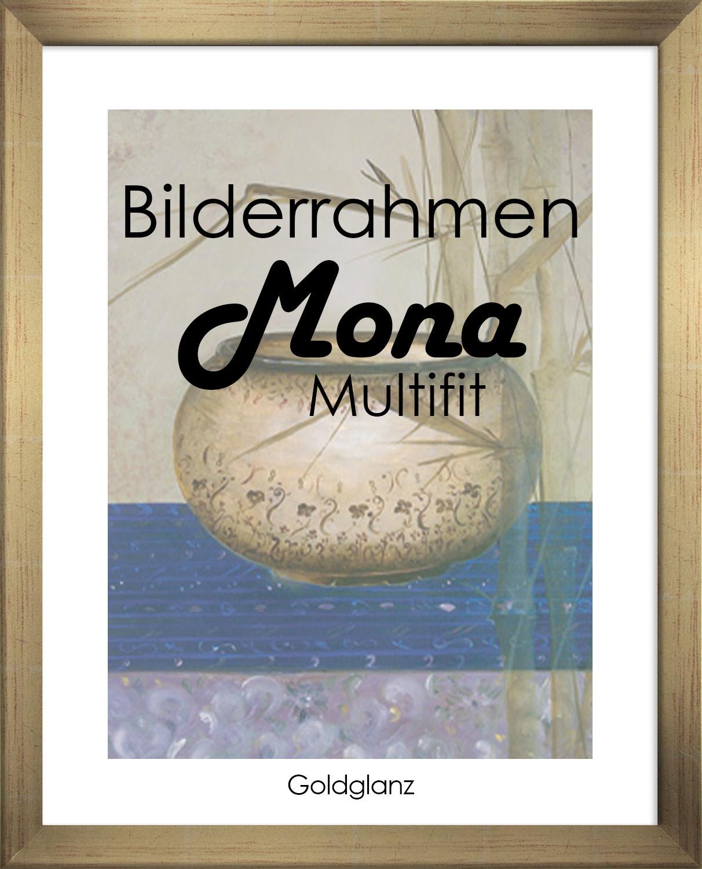 Bilderrahmen Mona MULTIFIT 70x105 cm mit weißer Rückwand 105x70 cm Foto Poster