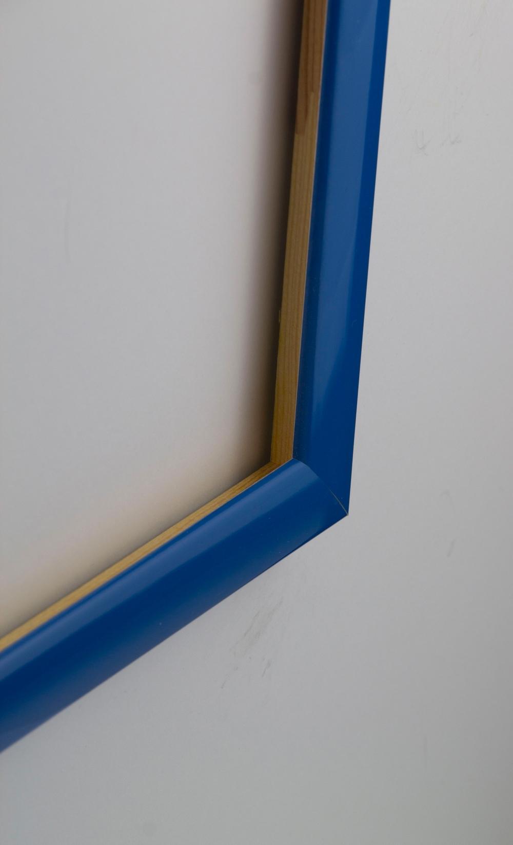 Orlando Bilderrahmen Massivholz Größenwahl Acrylglas klar Hellblau ...