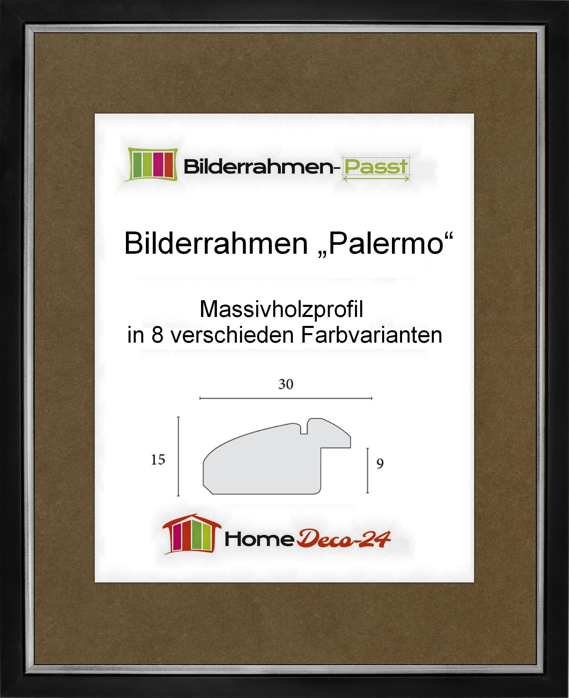 Palermo 36 x 49 cm Massivholz Bilderrahmen in gediegenem ...