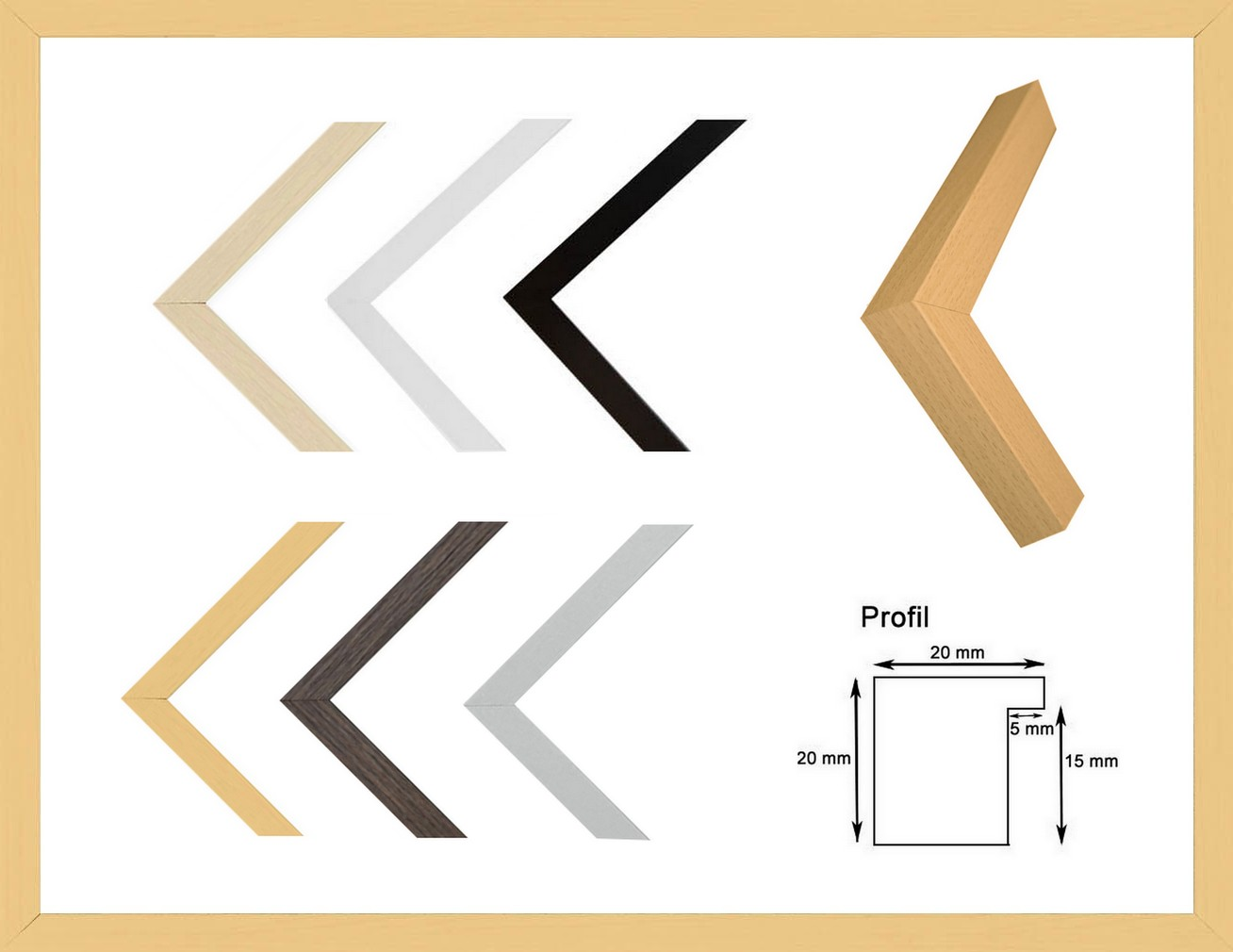 Texel Deluxe Bilderrahmen 28 x 36 cm Profil modern schlicht eckig   eBay